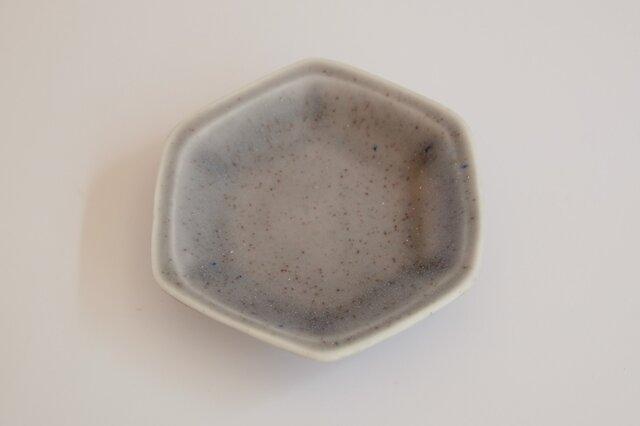 豆皿 六角 ブルーレインの画像1枚目