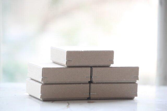 角留め箱 クラフトボール ホチキス銀色 【5箱】 60×60×20mmの画像1枚目