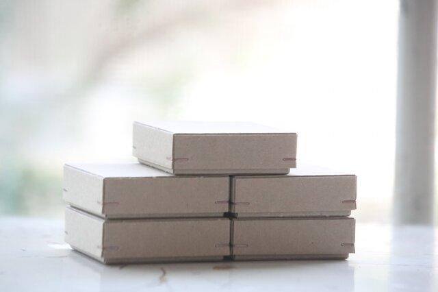 角留め箱 クラフトボール ホチキス銅色 【5箱】 60×60×20mmの画像1枚目