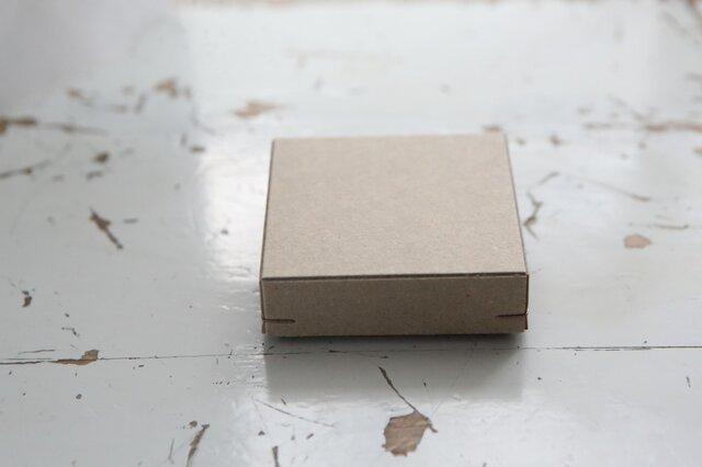 角留め箱 クラフトボール ホチキス銅色 【1箱】 60×60×20mmの画像1枚目