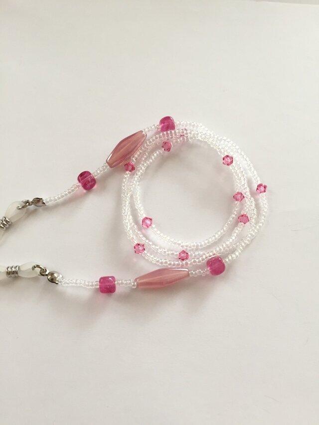 【創業祭】ピンクが可愛いメガネチェーンの画像1枚目