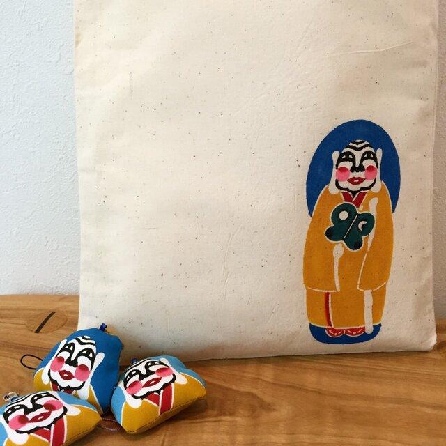 """ミルクさま 手染め エコバッグ Bingata my bag """"Milk-sama""""の画像1枚目"""