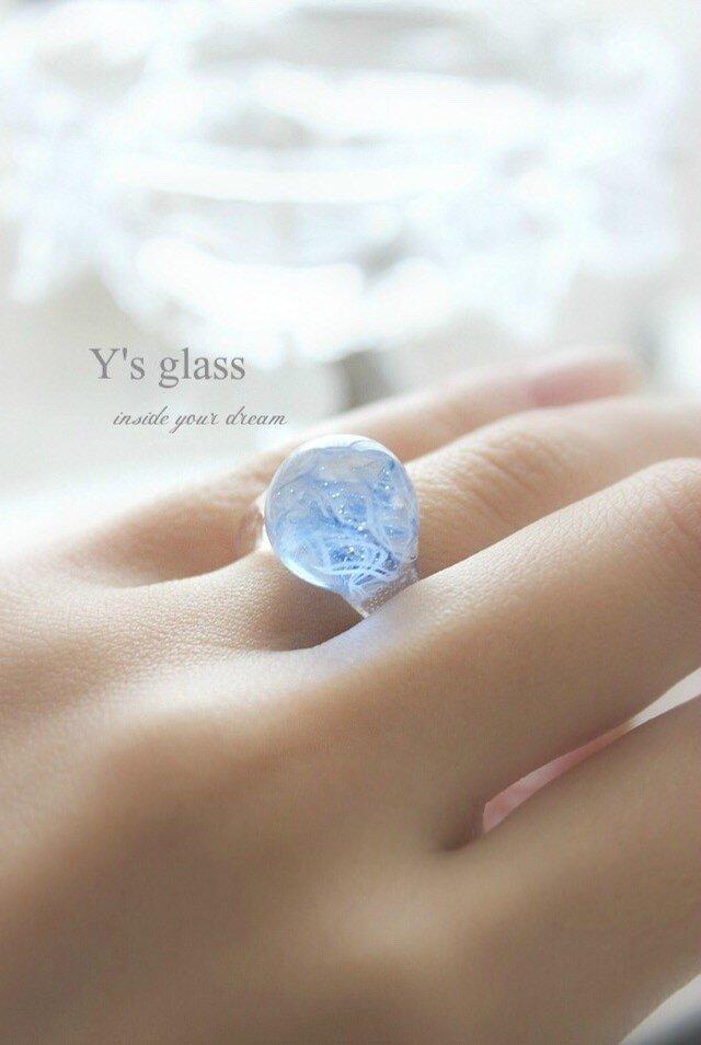 キャンディ ガラスのリングの画像1枚目