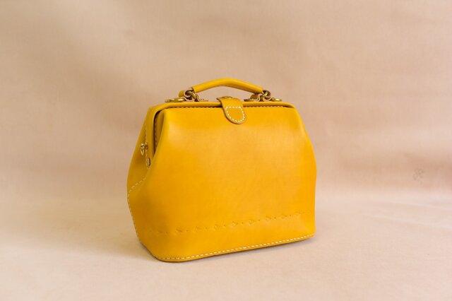 【切線派】大容量 がま口 本革手作りのレザーショルダーバッグ 手染め / 総手縫い 手持ち 肩掛け 2WAY 鞄の画像1枚目
