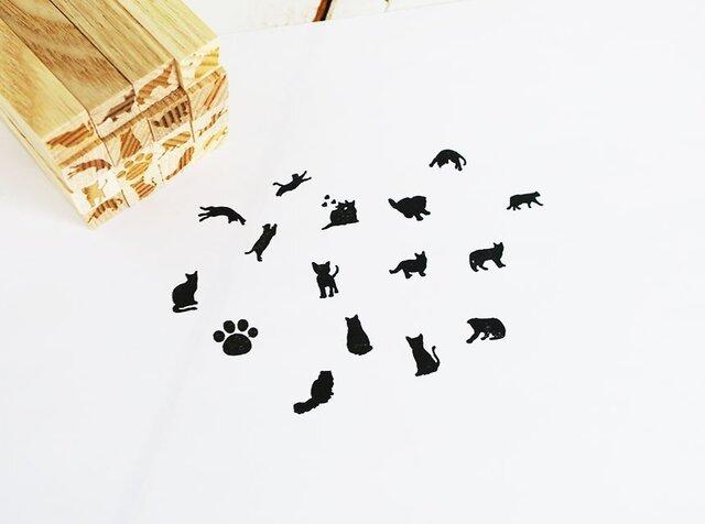 ☆2個選べる☆猫ちゃんはんこミニの画像1枚目