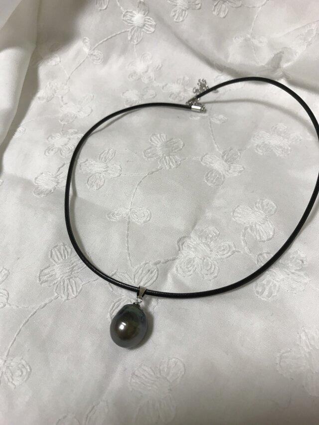 南洋黒蝶真珠ネックレスの画像1枚目
