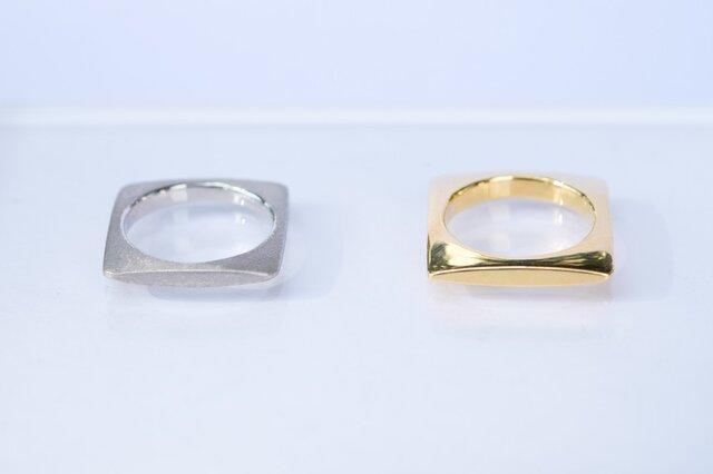 SQUARE Ring(GOLD)の画像1枚目
