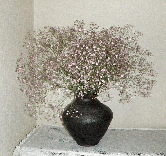 花器~黒釉の画像1枚目
