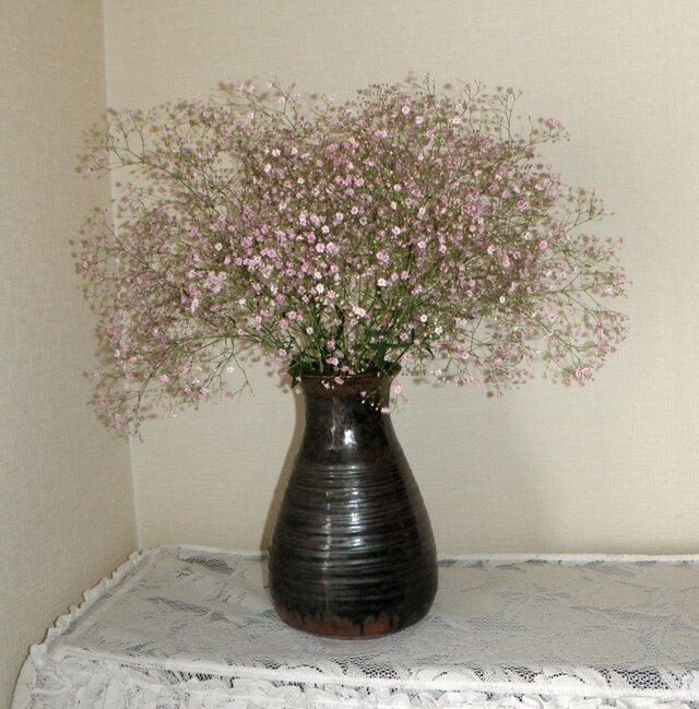 花器~鉄釉の画像1枚目