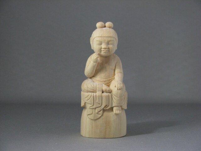 稚児仏像 弥勒菩薩の画像1枚目