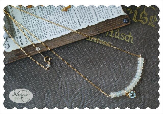 オパールとブルートパーズのネックレスの画像1枚目