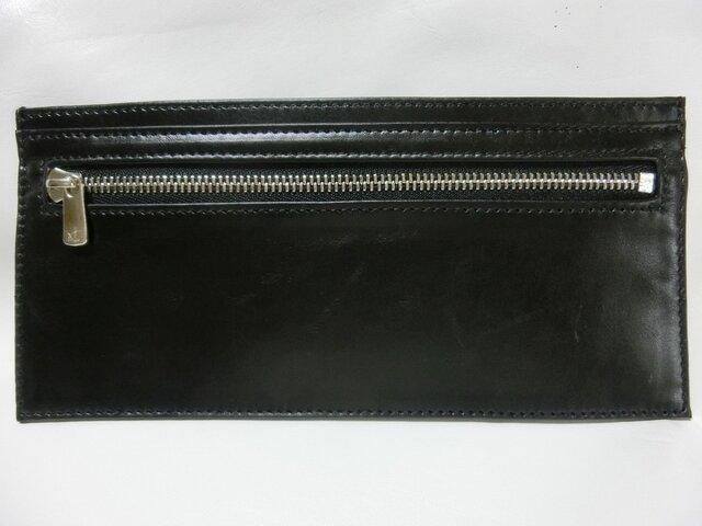 超薄型 長財布 ブラックの画像1枚目