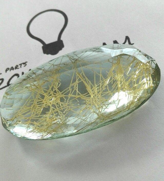 ゴールデン ルチルクォーツ(針水晶) オーバルカボションカット 173.9ctsの画像1枚目