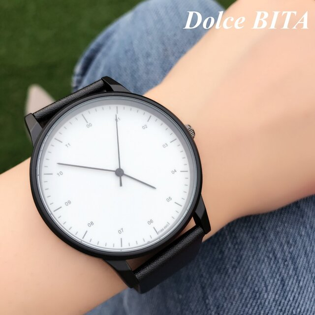 クールスタイリッシュ ホワイトシンプル腕時計 ペアウォッチ<e-012>の画像1枚目