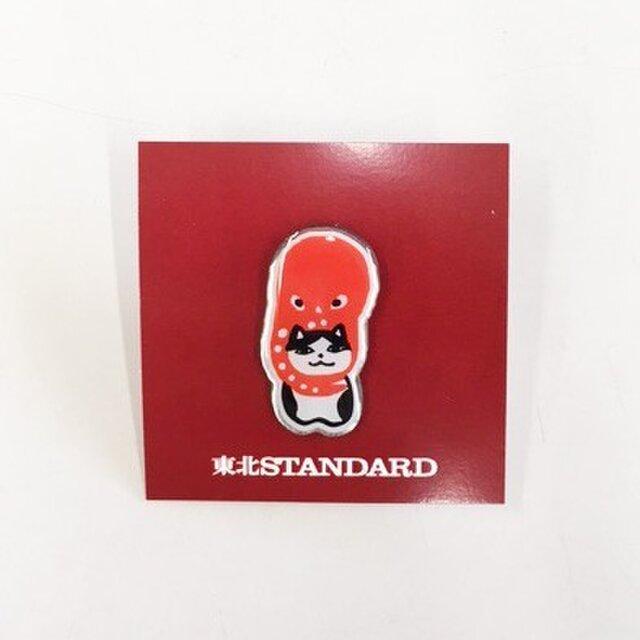 東北STANDARD ピンズ 相良人形ねこたこの画像1枚目
