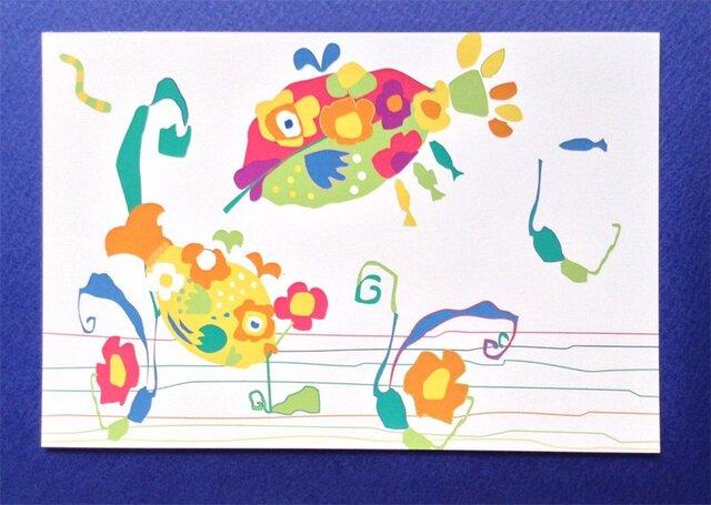 ポストカード4枚セット㉛「フラワーフィッシュ」の画像1枚目