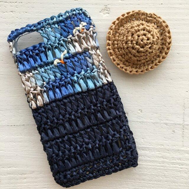 iPhoneケース/カモメと海・ディープブルー《麦わらフォン》の画像1枚目