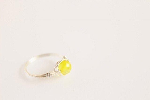 Yellowメノウ Wire Ring の画像1枚目