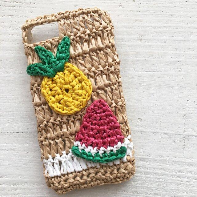 iPhoneケース/サマーフルーツ《麦わらフォン》の画像1枚目
