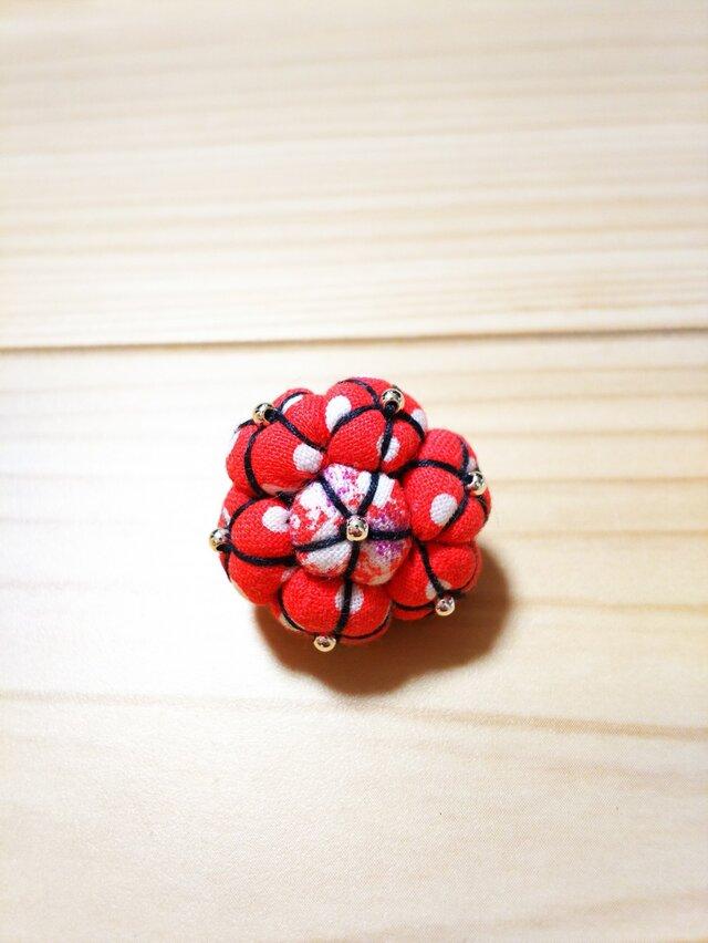 小型ペット用花のヘアゴムの画像1枚目