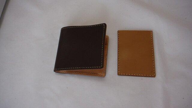 かさばらない折り畳み財布とカードケースセットの画像1枚目