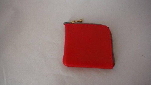 小銭入れに見える財布(赤)の画像1枚目