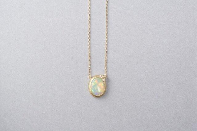 Welles オパールダイヤ 小花のネックレス3の画像1枚目