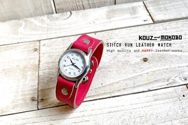 STITCH RUN LEATHER WATCH ⌚ 腕時計 // 受注生産の画像1枚目