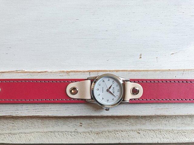 【送料無料】毎日つけていたくなる時計「ステッチラン 腕時計」受注生産(SRW-RHW-TS)Ⅱの画像1枚目