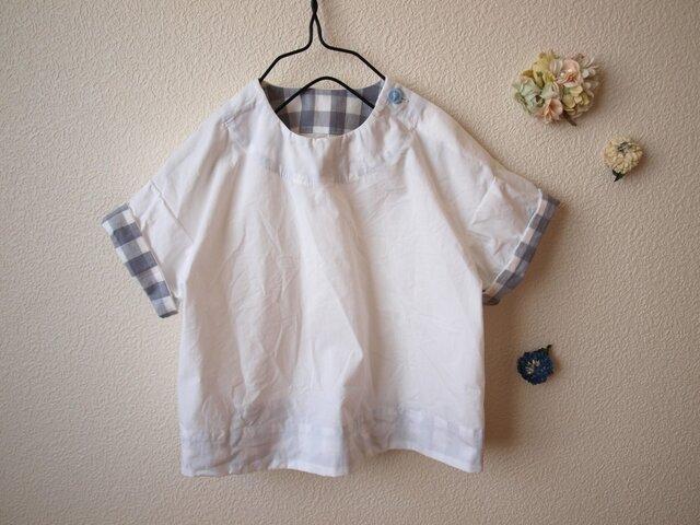 COTTON シャツ *ホワイト* size 80の画像1枚目