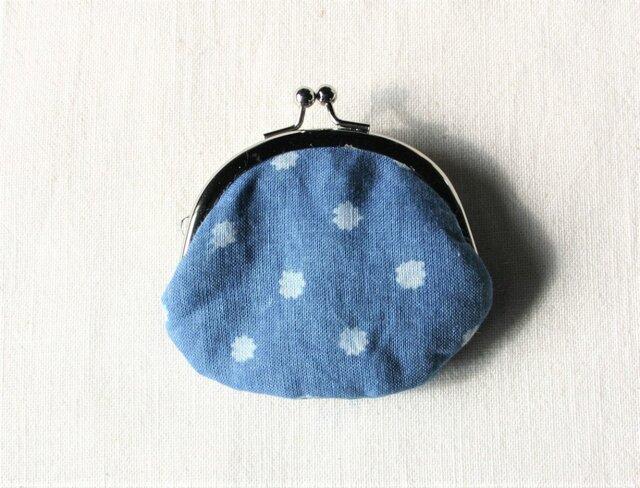 【再出品】藍染 豆がま口 「こんぺいと」の画像1枚目