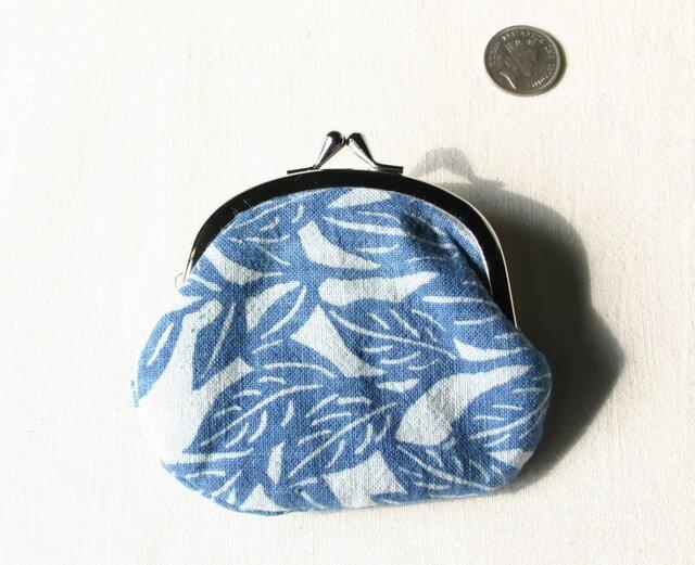 藍染 がま口 「ガジュマルと南風」の画像1枚目