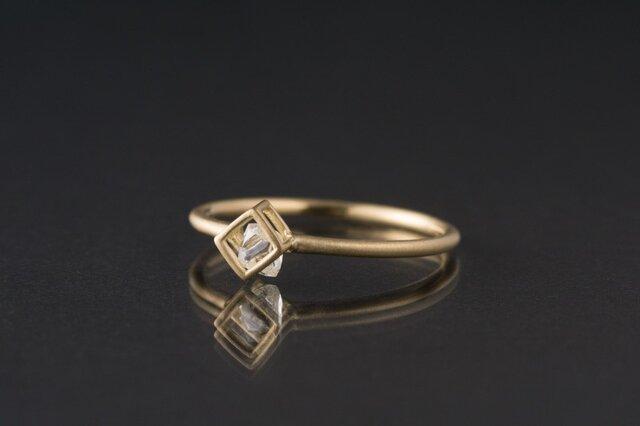 【オーダー】ダイヤモンド原石 BOXリング / K18YGの画像1枚目