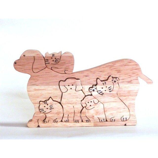 切り抜きの犬と猫の画像1枚目