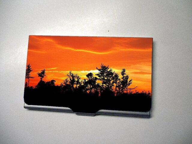 アートカードケース(名刺入れ) 森の夕焼け【送料無料】の画像1枚目
