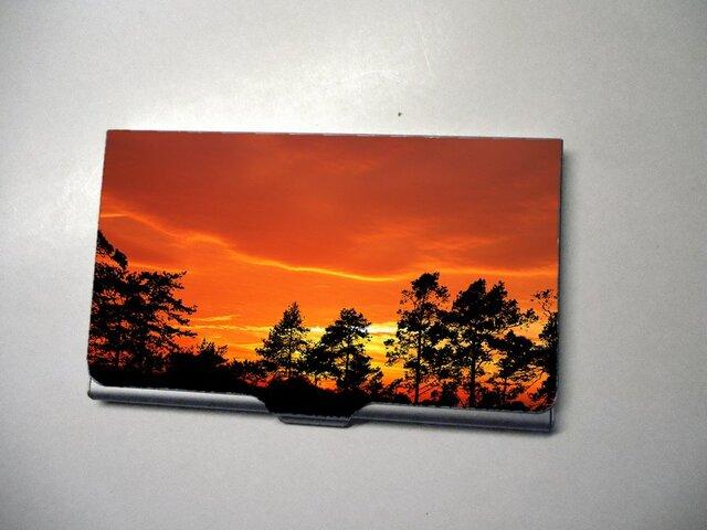 アートカードケース(名刺入れ) 森の夕焼け2【送料無料】の画像1枚目