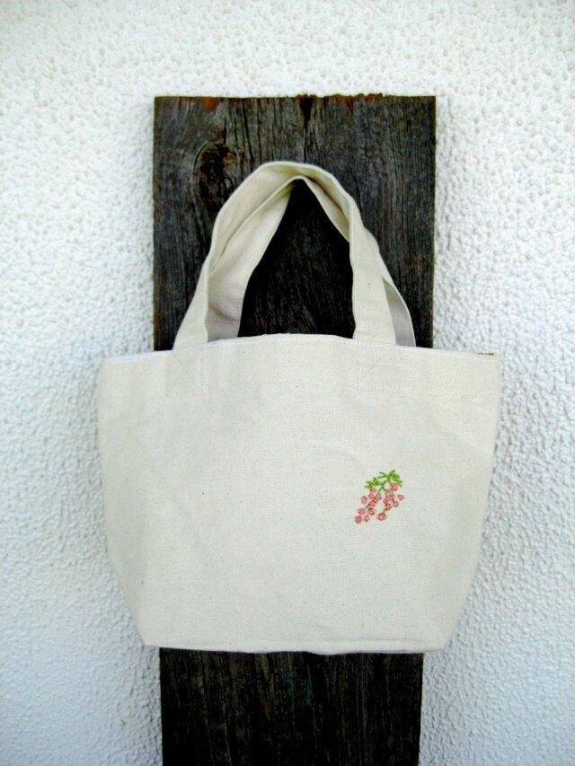 ミニトートバッグ 花の画像1枚目