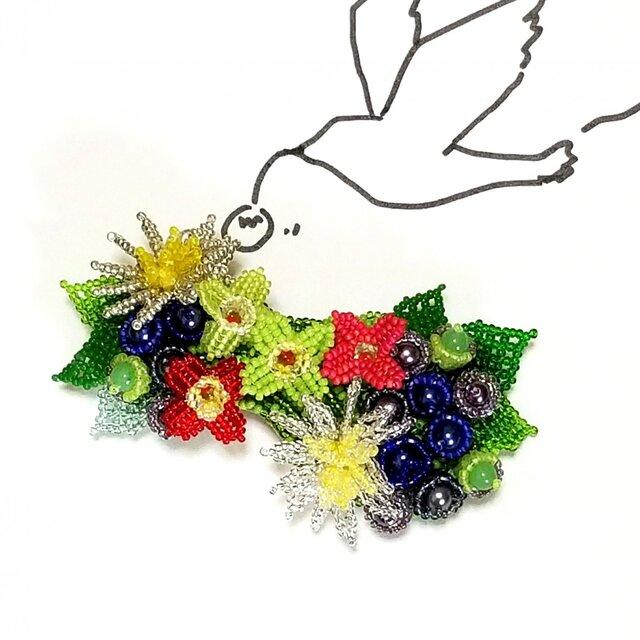 バレッタ Bouquet  (ブルーベリー)の画像1枚目