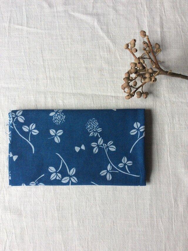 藍染め 手ぬぐい 「花降る日」の画像1枚目