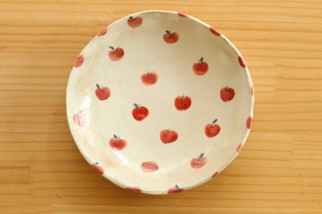 粉引きリンゴいっぱいの6寸皿。の画像1枚目