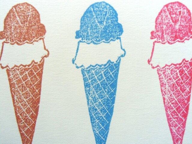 ポストカード(2枚) アイスクリームの画像1枚目