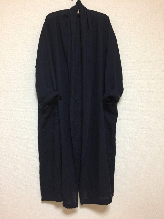 リネン100% ふわさらローブコートの画像1枚目