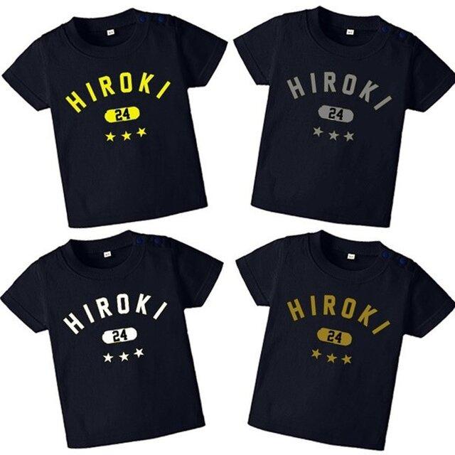 全4色☆ネイビー☆カレッジTシャツ★名入れ☆星はハートにも変更可能☆の画像1枚目