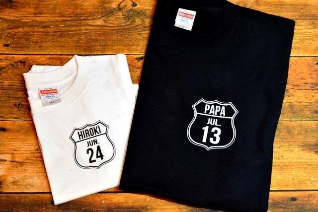 ROUTE Tシャツ★2色展開★70サイズ~大人サイズまで★お揃い☆家族写真にも*の画像1枚目