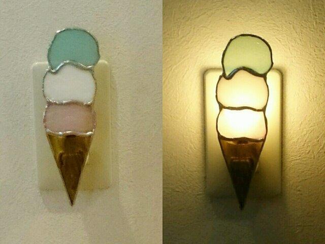 アイスクリームのフットライトの画像1枚目