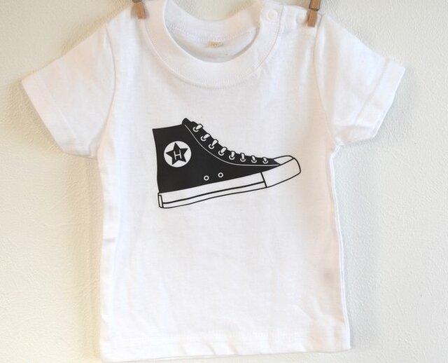 イニシャル入れられます★myスニーカーTシャツ★70~大人まで★赤ちゃんも★お揃いコーデ出来ます★の画像1枚目