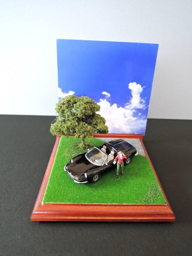 休日のクラシックカー(ディーノ・246GTS)の画像1枚目