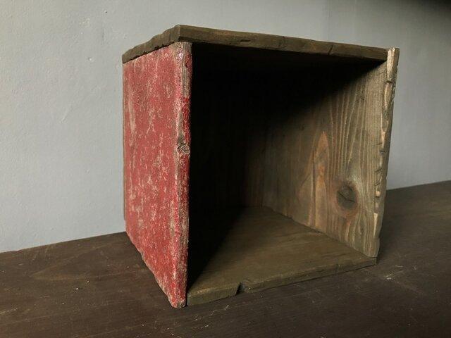 Square Box -1side red medi-の画像1枚目