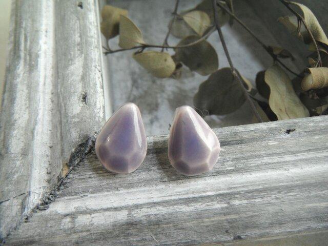 jewel cut  pierce/earring (pairshape ラベンダー)の画像1枚目