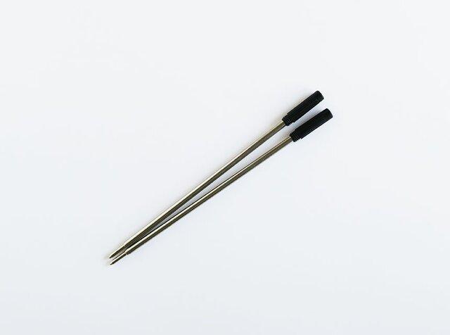 木製ボールペン用替え芯2本セット(黒色)の画像1枚目